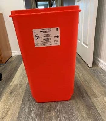 18 gallon sharps container